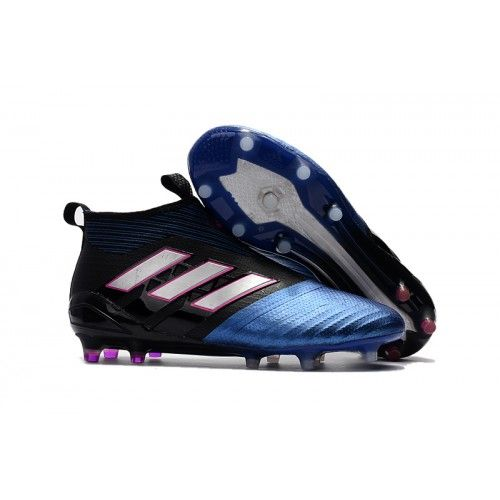 pretty nice 2b06c c3828 Adidas ACE 17 PureControl FG Black Blue White Pink Mens Football Boots