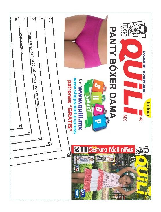 PATRONES GRATIS - shopsmart | Sewing patterns | Pinterest | Lingerie ...