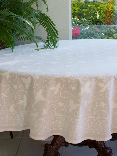 Ivy Lace Elegant White Wedding Round Indian Table Cloths