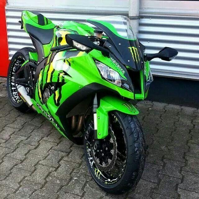 Genial 2012 Kawasaki Ninja Monster Energy It Is Badass!