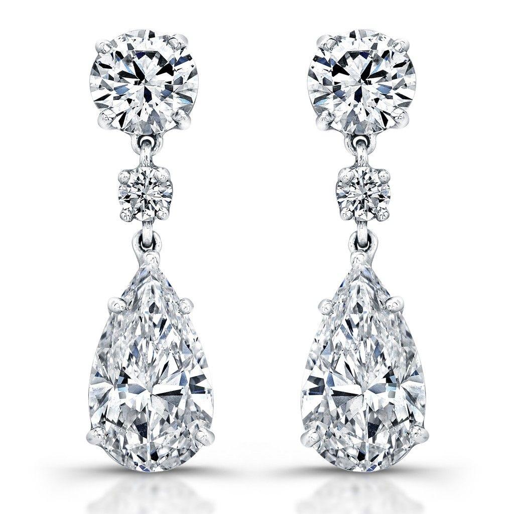 Pear Diamond Earrings — Revere Jewels | Jewellery | Pinterest ...
