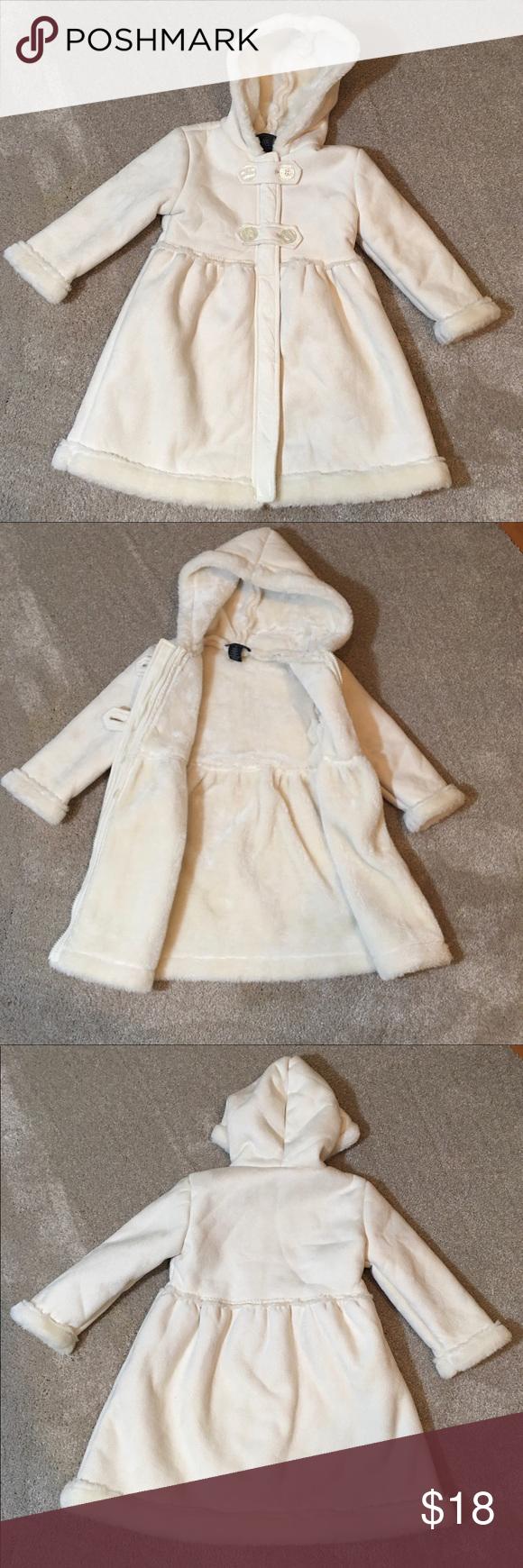 Calvin Klein Girls Faux Fur Hooded Coat Faux Fur Hooded Coat Fur Hood Coat Hooded Coat [ 1740 x 580 Pixel ]