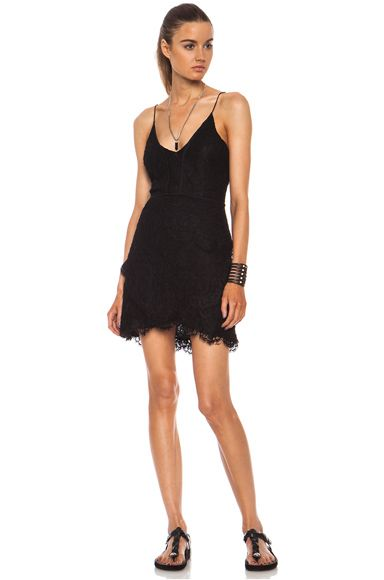 Isabel Marant Melva Nylon Dress in Black
