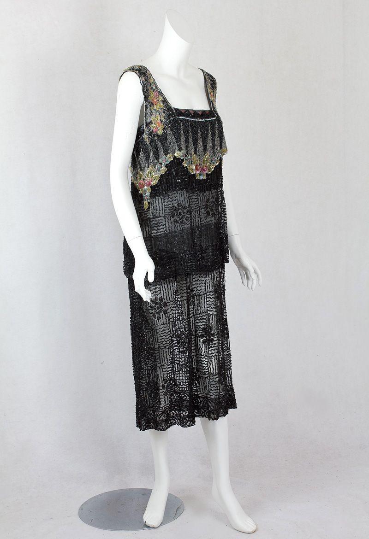 beaded evening dress s at vintagetextile roaring