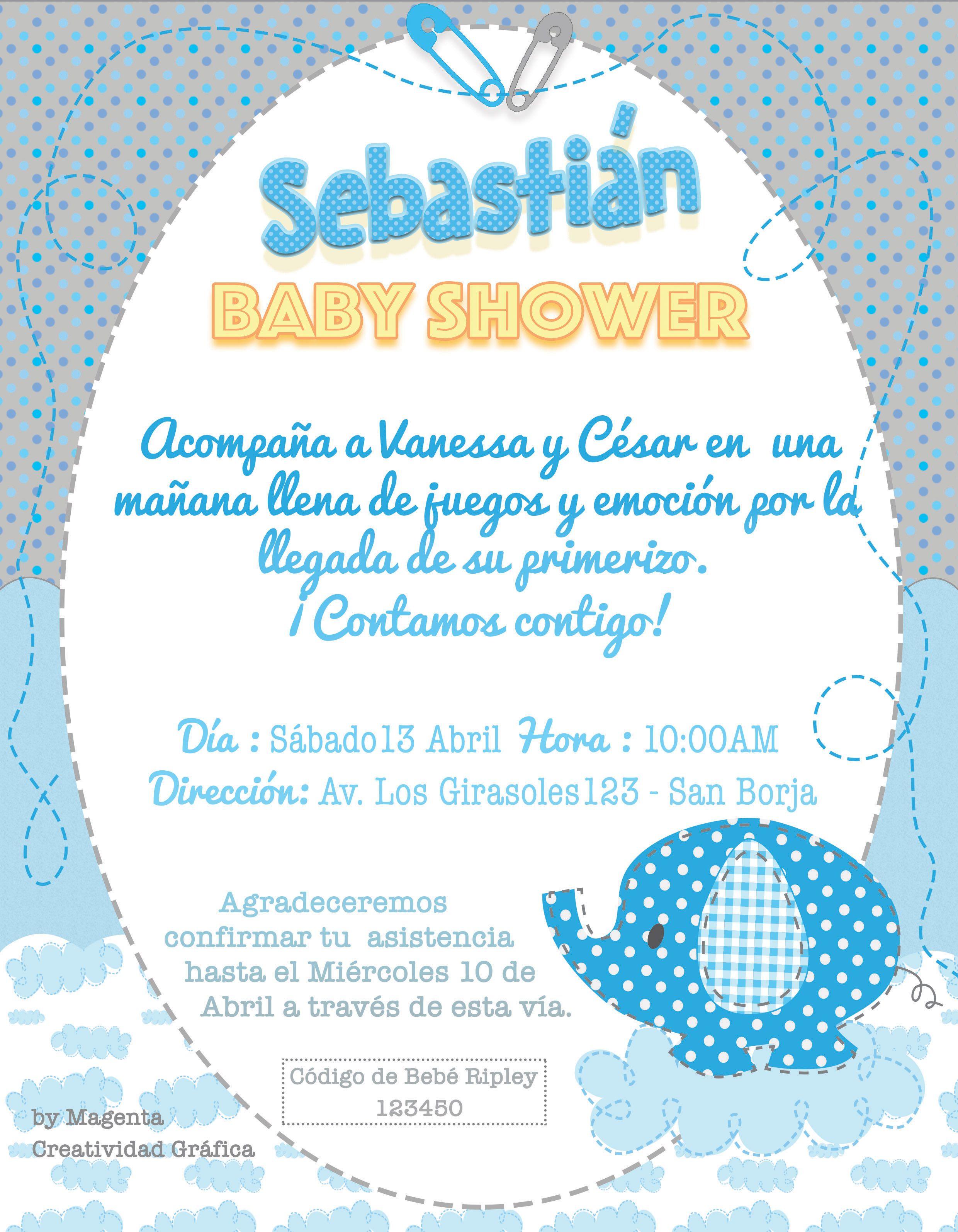 Invitaci N Para Baby Shower Ni O Lista Para Enviarla