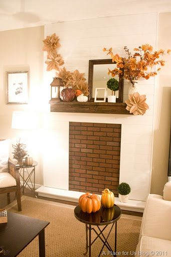 Lovely DIY Fireless Fireplace And How To Make Your Own Mantel · Fall Fireplace  MantelFireplace IdeasFake ... Home Design Ideas