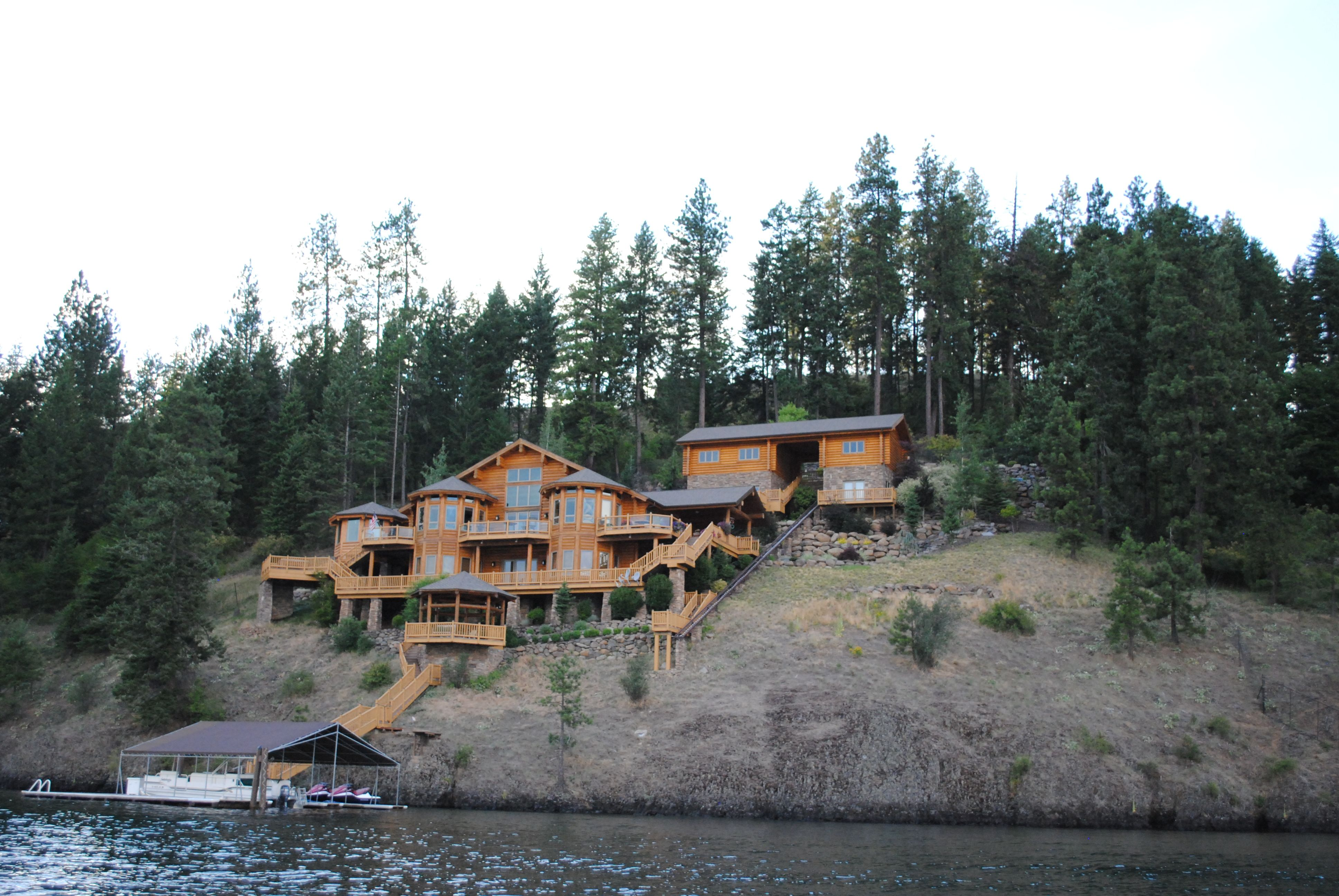 Cool House On Hayden Lake Lake House House Styles Beautiful Homes