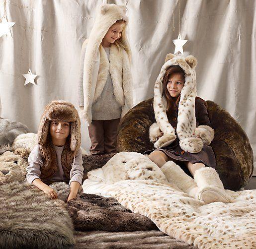 085661b5b4cf The dream sleep-over!! Luxe Faux Fur Animal Sleeping Bag