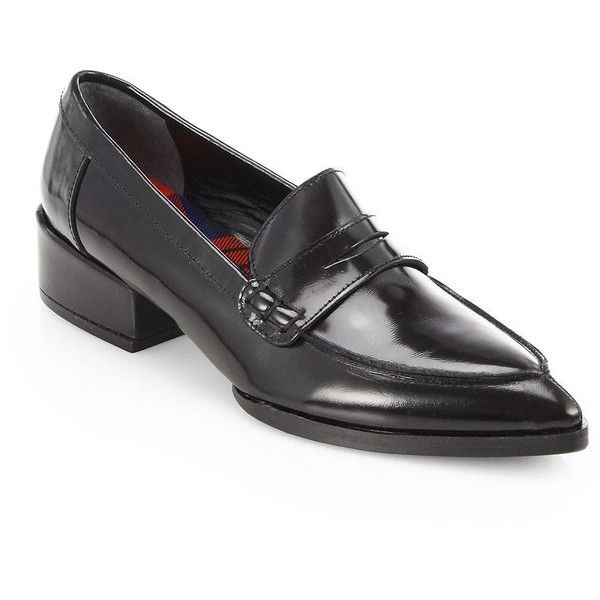 Junya Watanabe Polished Leather Penny Loafers