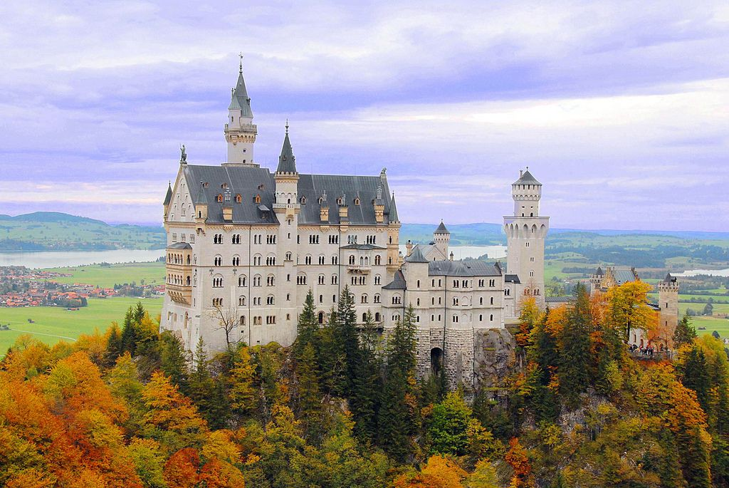 Neuschwanstein castle Marienbruecke Germany