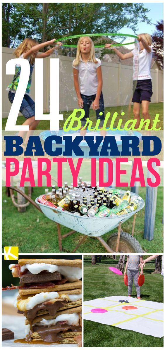24 Brilliant Backyard Party Ideas Backyard party ideas Party