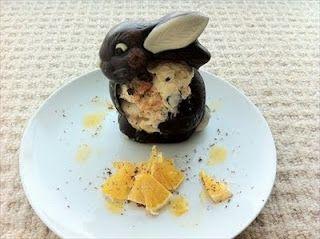 Sad bunnies - Ginger Jaffa Ice Cream Recipe