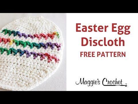 Easter Egg Dishcloth Free Crochet Pattern Right Handed