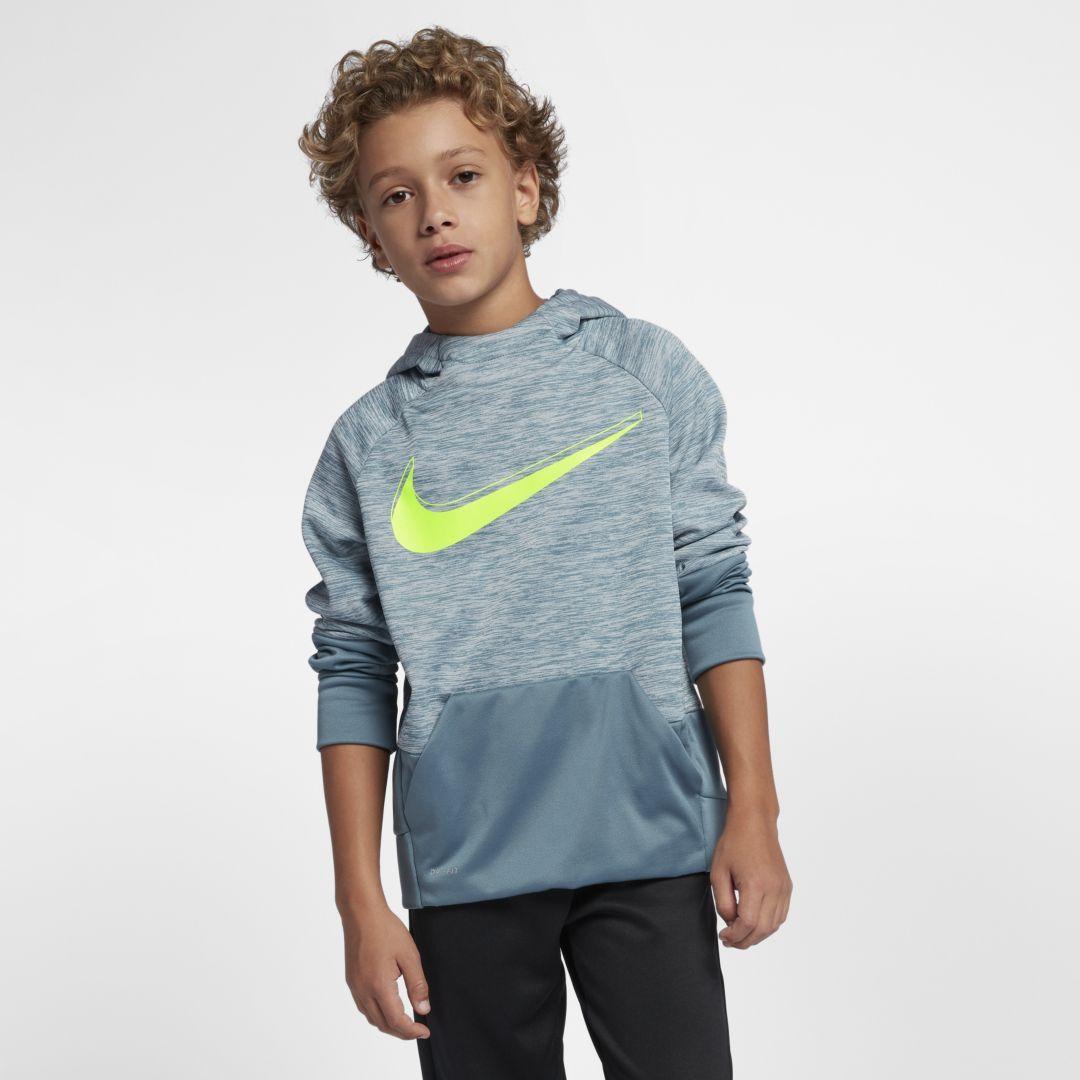 8eba399c3d Nike Dri-FIT Therma Big Kids' (Boys') Pullover Training Hoodie Size L  (Celestial Teal)