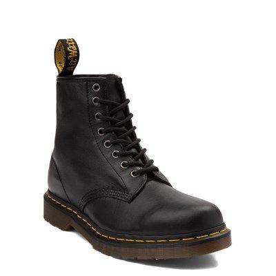 mens dr martens 1460 8eye nappa boot  black in 2020