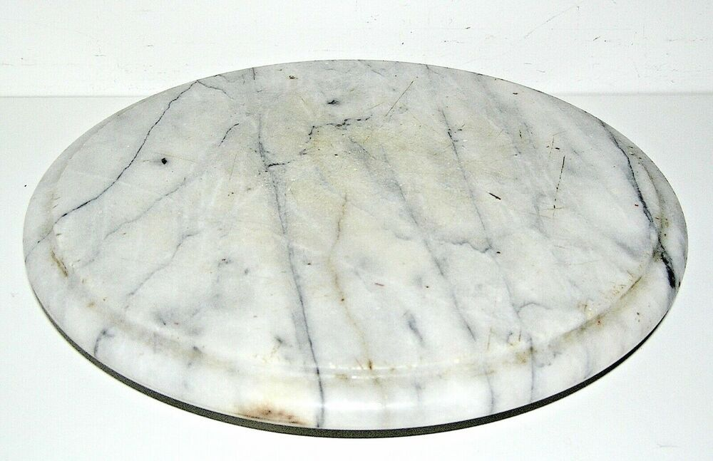 Solid Marble Lazy Susan In White And Black 12 Inches White With Images Marble Lazy Susan Lazy Susan White And Black