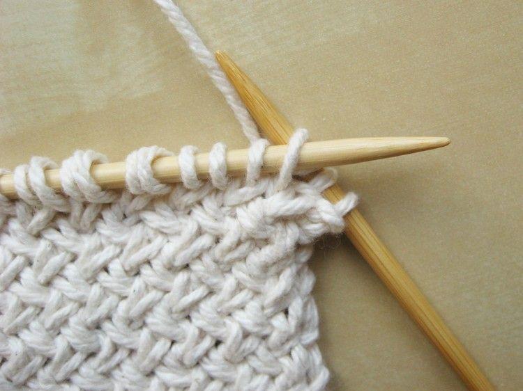 Basketweave Diagonal Knitting Pattern   trico   Pinterest   Dos ...