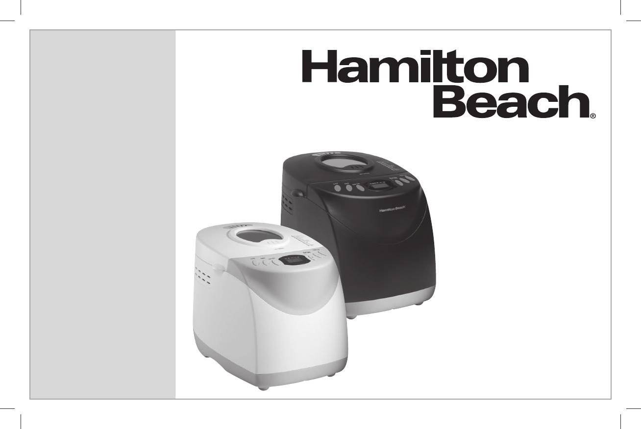 Hamilton Beach Bread Maker User Manual Manualsonline Com Hamilton Beach Bread Maker Recipe Hamilton Beach Hamilton
