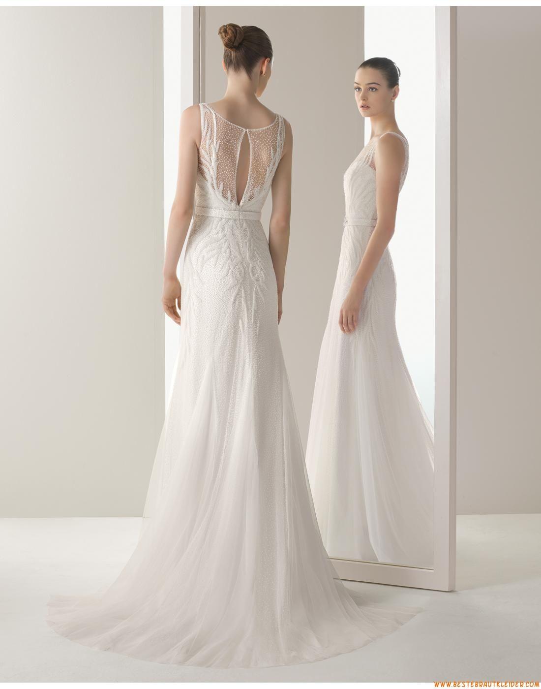 Romantische Ausgefallene Exklusive Brautkleider aus Softnetz mit ...