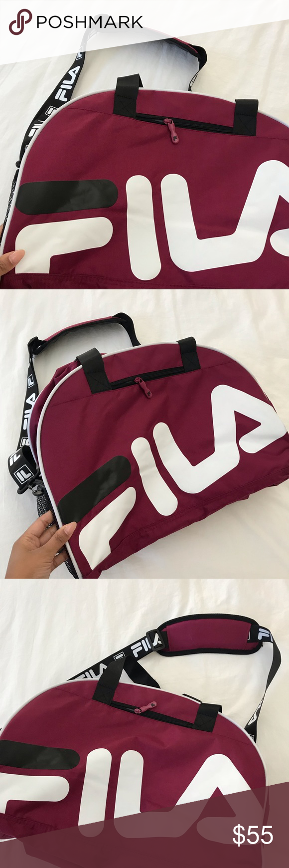 e12d4812f4a664 Burgundy FILA duffle NWT So cute! Brand new Price is FIRM Do not offer No  additional photos No trading Bundles welcome Fila Bags Travel Bags