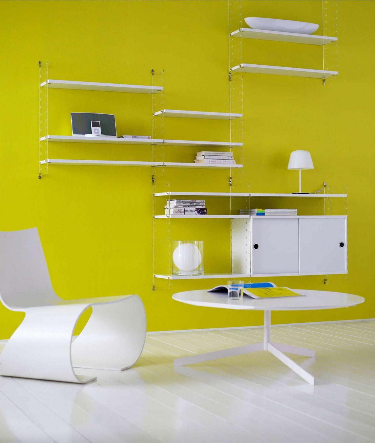 String Plex Väggavlar grund med 58x20 hyllor   Shelving, Shelves and ...