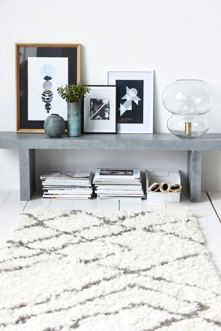Pictures propped on bench salon pinterest bench interiors
