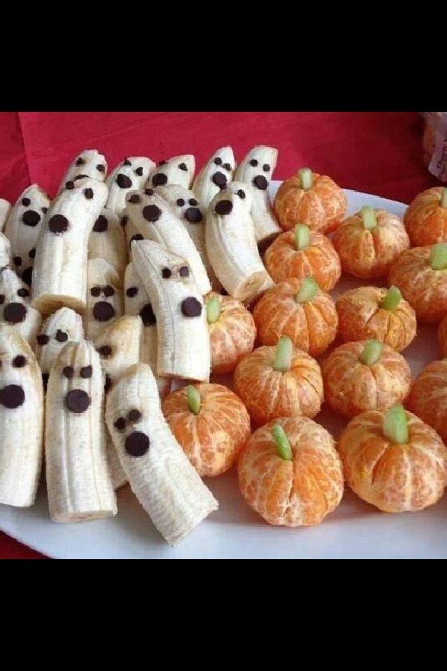 Halloween nice healthy alternative to junk food Party - halloween treat ideas for school parties