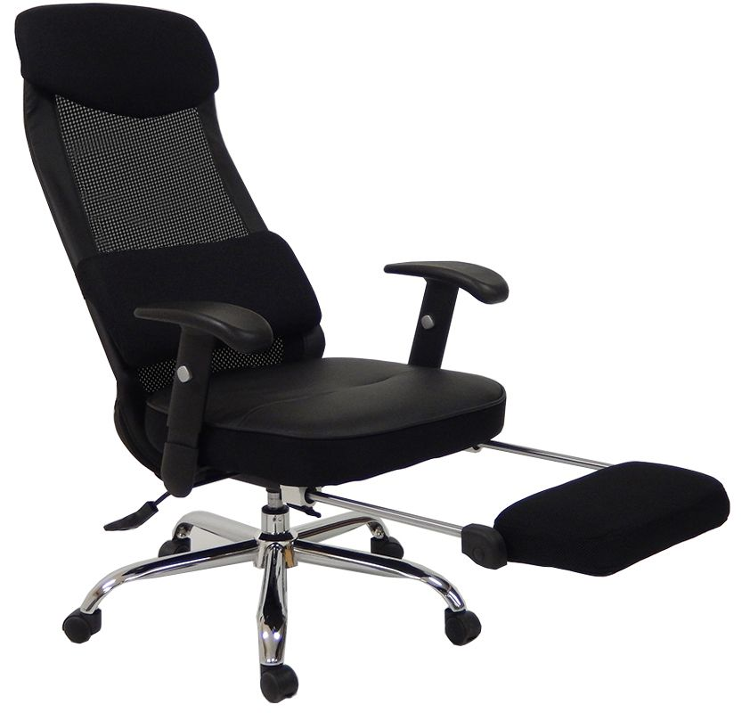 office chair footrest. mesh back reclining office chair w/ footrest -