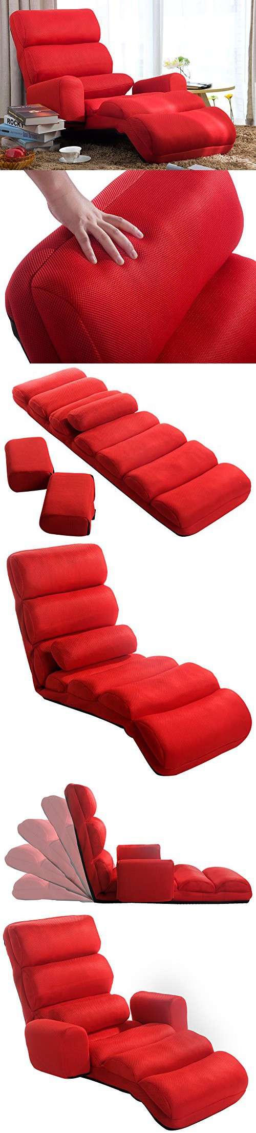 Merax Relaxing Foldable Lazy Sofa Chair With Pillow Stylish Sofa