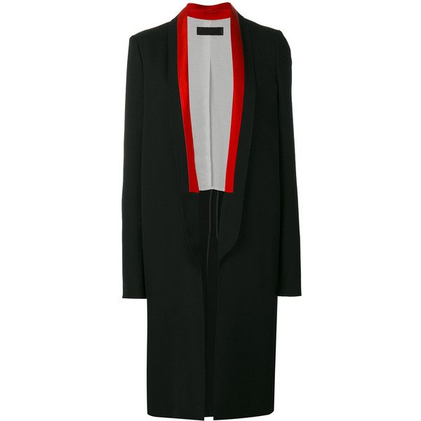 Haider Ackermann long tuxedo coat (116.160 RUB) via Polyvore featuring outerwear, coats, black, tuxedo coat, haider ackermann, long tuxedo coat, dinner suit и tuxedo suit