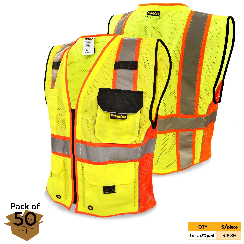 Clearance kwiksafety supreme ansi class 2 safety vest
