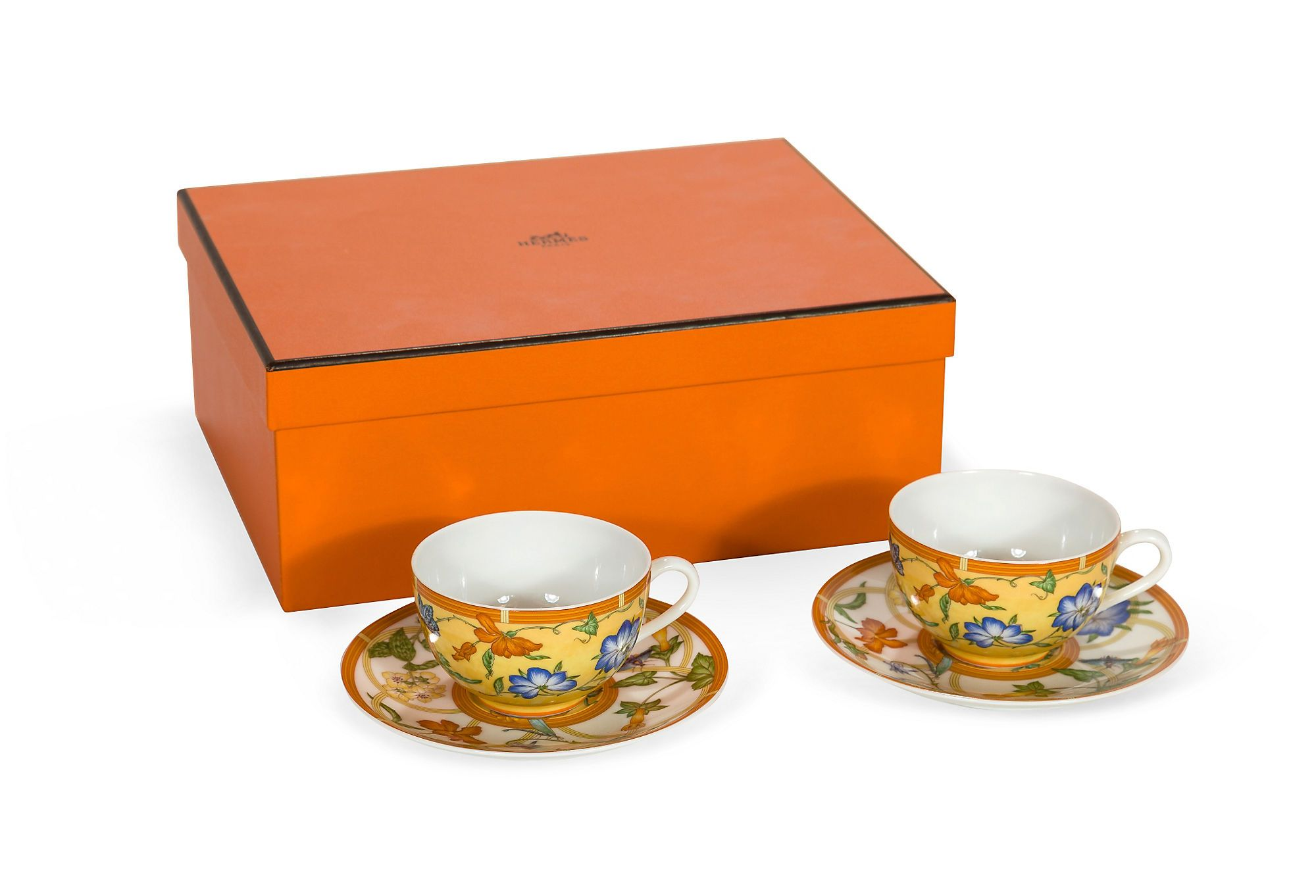 Hermès La Siesta Tea Cups, Pair