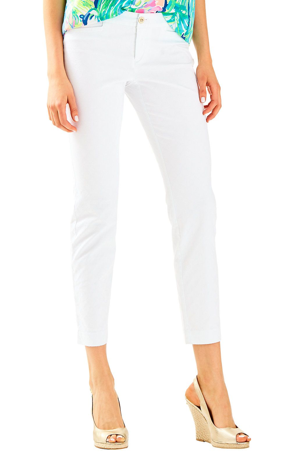 fff33f6bf9ed9 LILLY PULITZER KELLY TEXTURED ANKLE LENGTH SKINNY PANT. #lillypulitzer  #cloth #