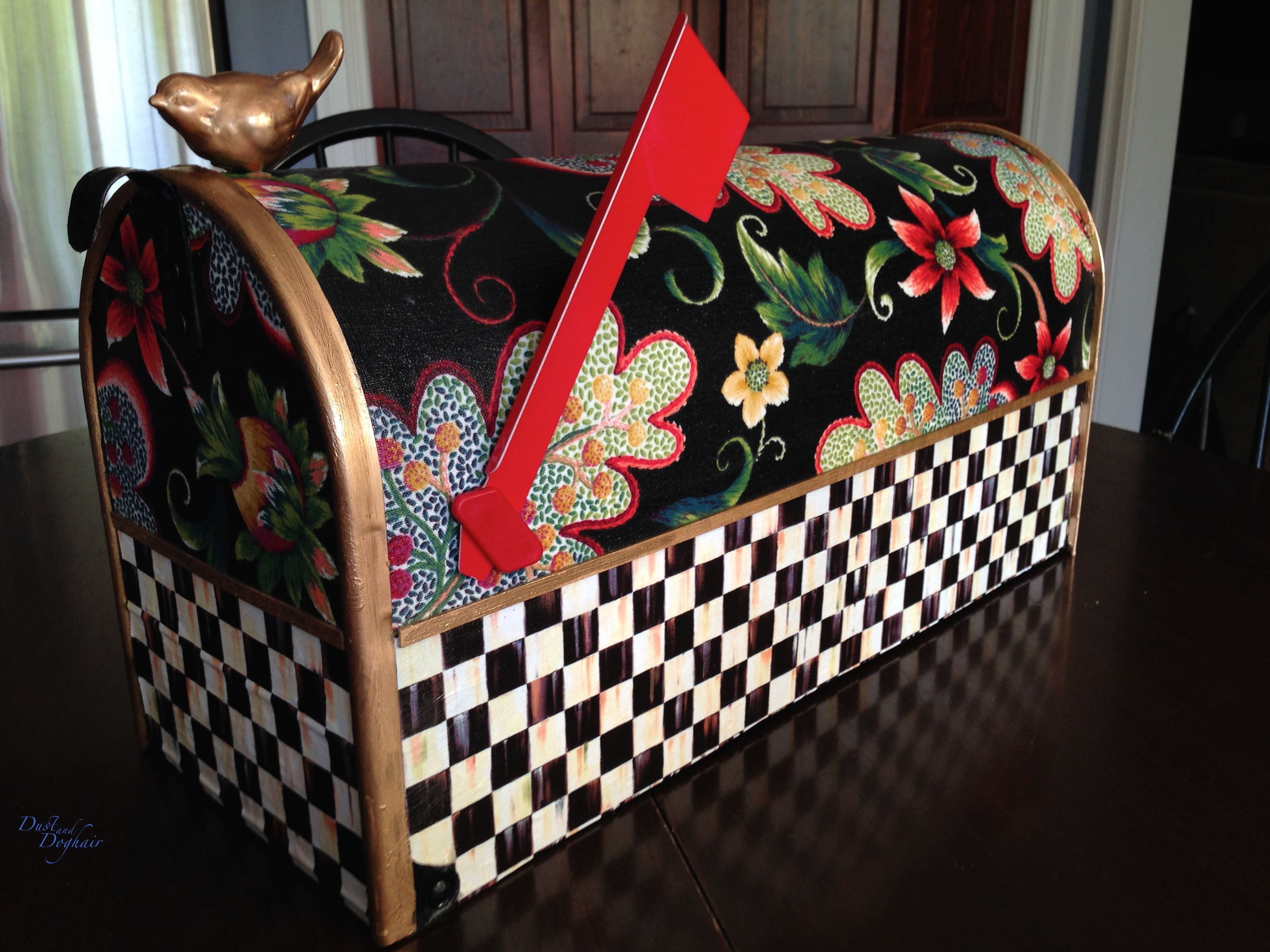 A New Decorative Mailbox | Painted mailboxes, Mackenzie ...  Funky Painted Mailboxes