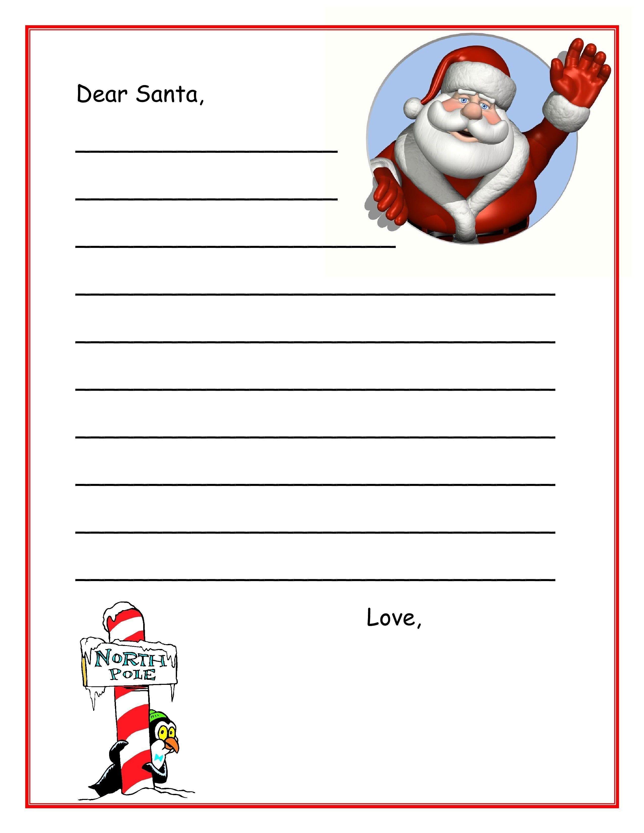 10 Write A Printable Letter in 2020 Dear santa letter