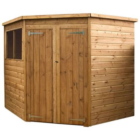 Winchester 7ft x 7ft (2.00m x 2.01m) Shiplap Solid Sheet Corner Shed – Next Day Delivery Winchester 7ft x 7ft (2.00m x 2.01m) Shiplap Solid Sheet Corner Shed