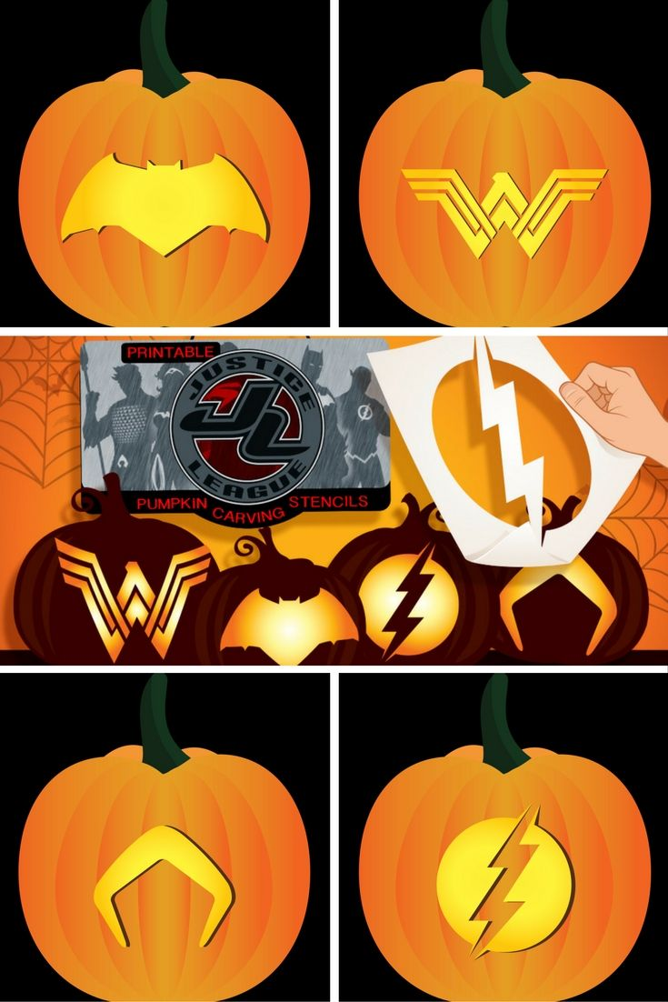 assemble your very own justice league with these free pumpkin carving templates - Carving Templates Halloween Pumpkin