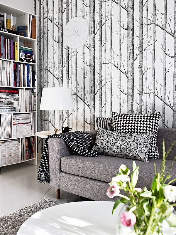 Best Birch Tree Decor Tree Wallpaper Living Room Wallpaper 400 x 300