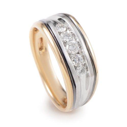IB Goodman 14K MultiTone Gold Diamond Band Ring 63388XGW4X