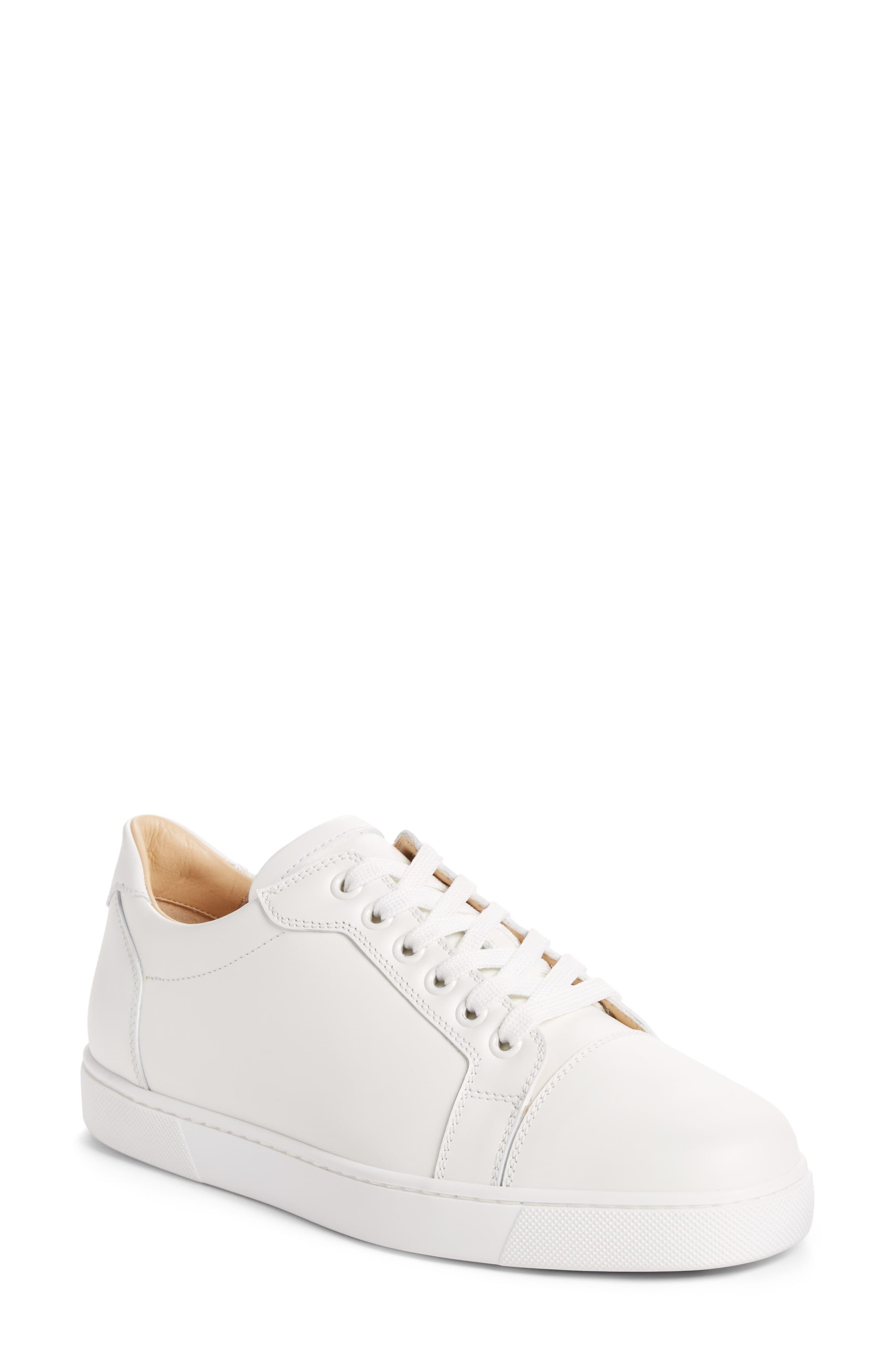 Women's Christian Louboutin Vieira Lace Up Sneaker, Size 5.5