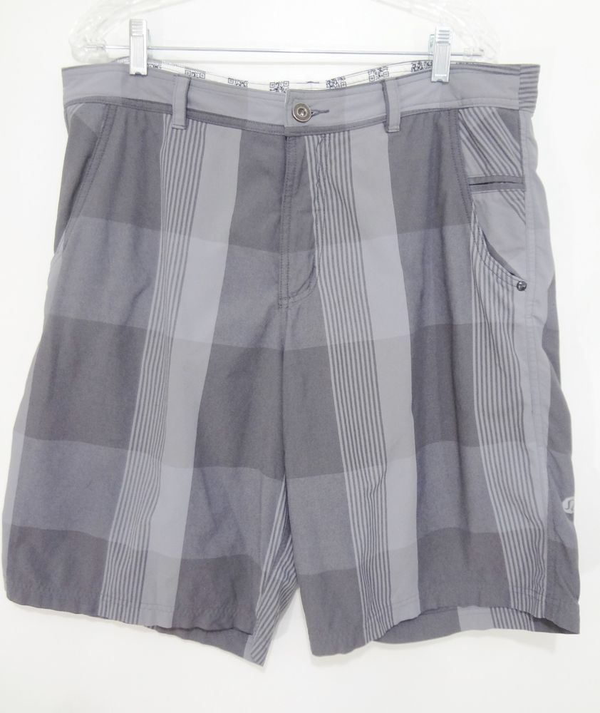 Flannel shirt and shorts men  Lululemon Athletica Gray Plaid Shorts Mens  Lululemon