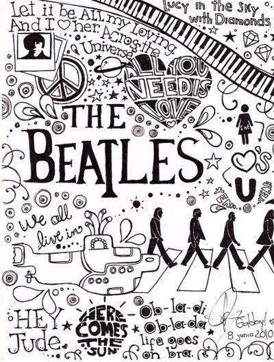 I Loove The Beatles The Beatles Beatles Art Beatles Love