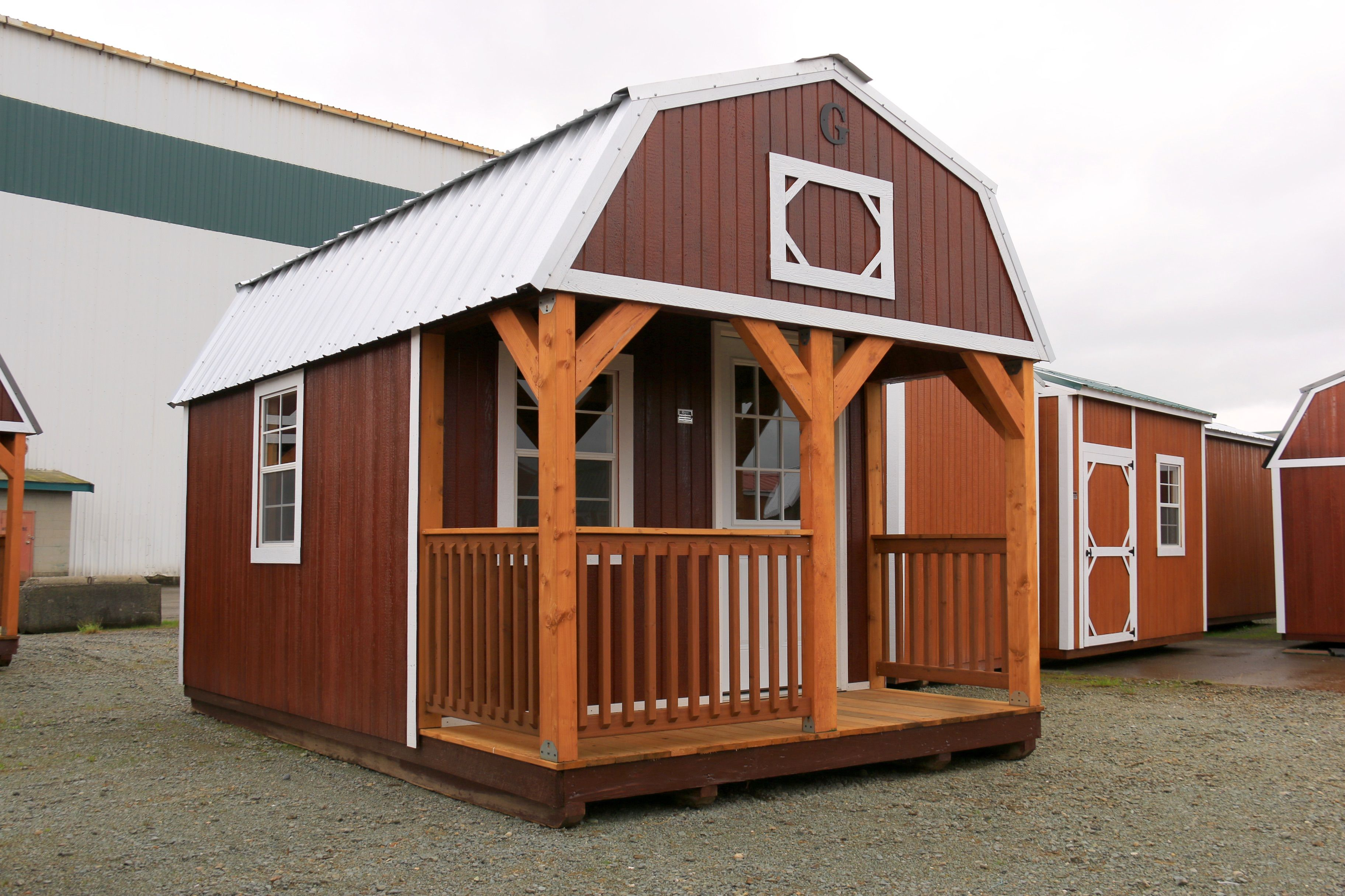 Want A Porch On One Of Our Graceland Urethane Portable Buildings? It Can Be  Done