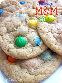 Six Sisters' Stuff: Chewy M Cookies Recipe; fathers day present!!