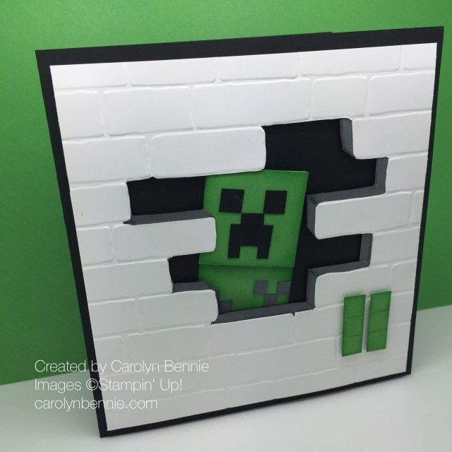 Jeepers Minecraft Creeper Birthday Card Carolyn Bennie Minecraft Birthday Card Lego Birthday Cards Cool Birthday Cards