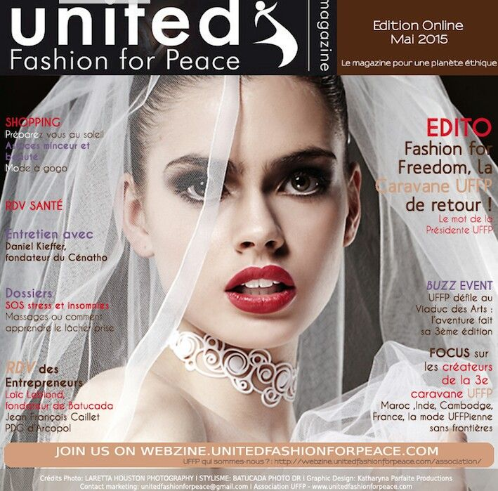 Batucada fait la Une de United Fashion for Peace France avec sa collection de bijoux de mariage