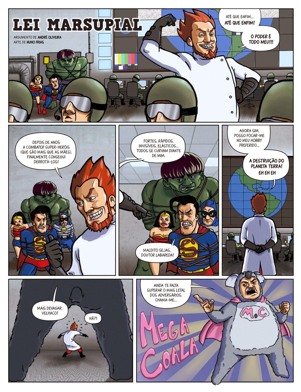 """""""Lei Marsupial"""" (with Nuno Frias) page #1"""