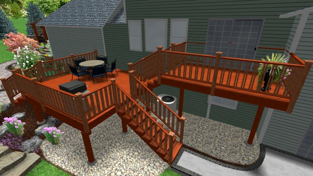 Garden Ideas On Two Levels the complete guide about multi level decks with 27 design ideas