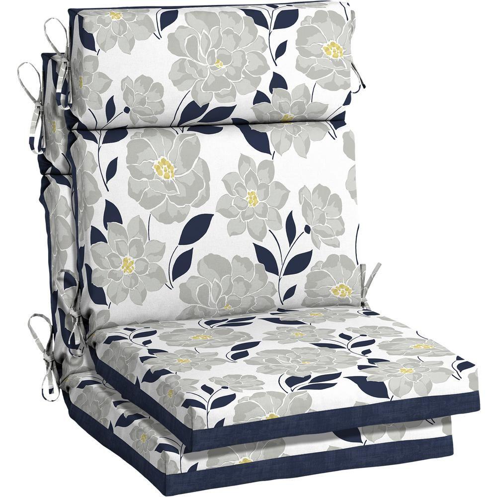 Hampton Bay 21 5 X 44 Flower Show High Back Outdoor Dining Chair