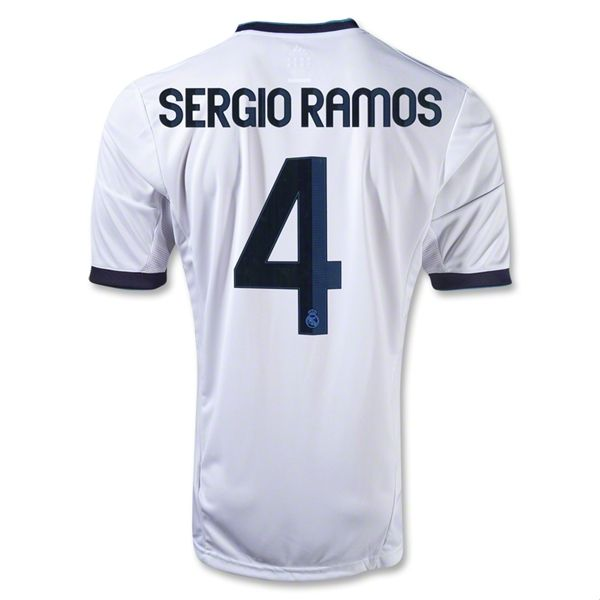 Real Madrid 12 13 Sergio Ramos Home Soccer Jersey Soccer Jersey World Soccer Shop Soccer Shop